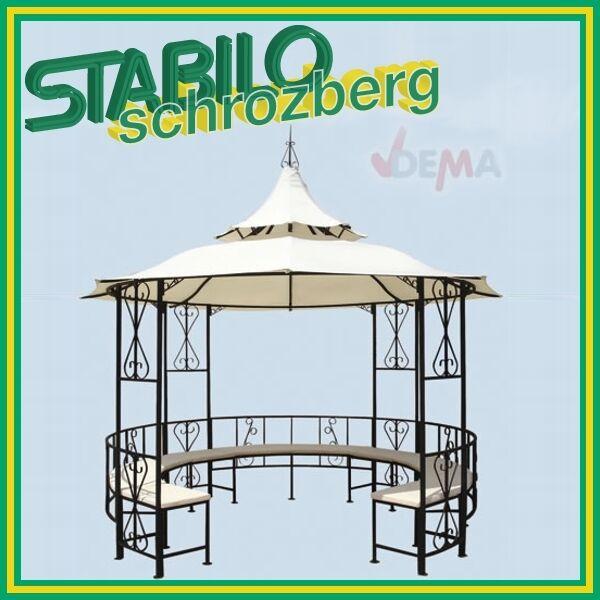 Pavillon/Metall/Gartenpavillon/Rundpavillon mit Bank 917485