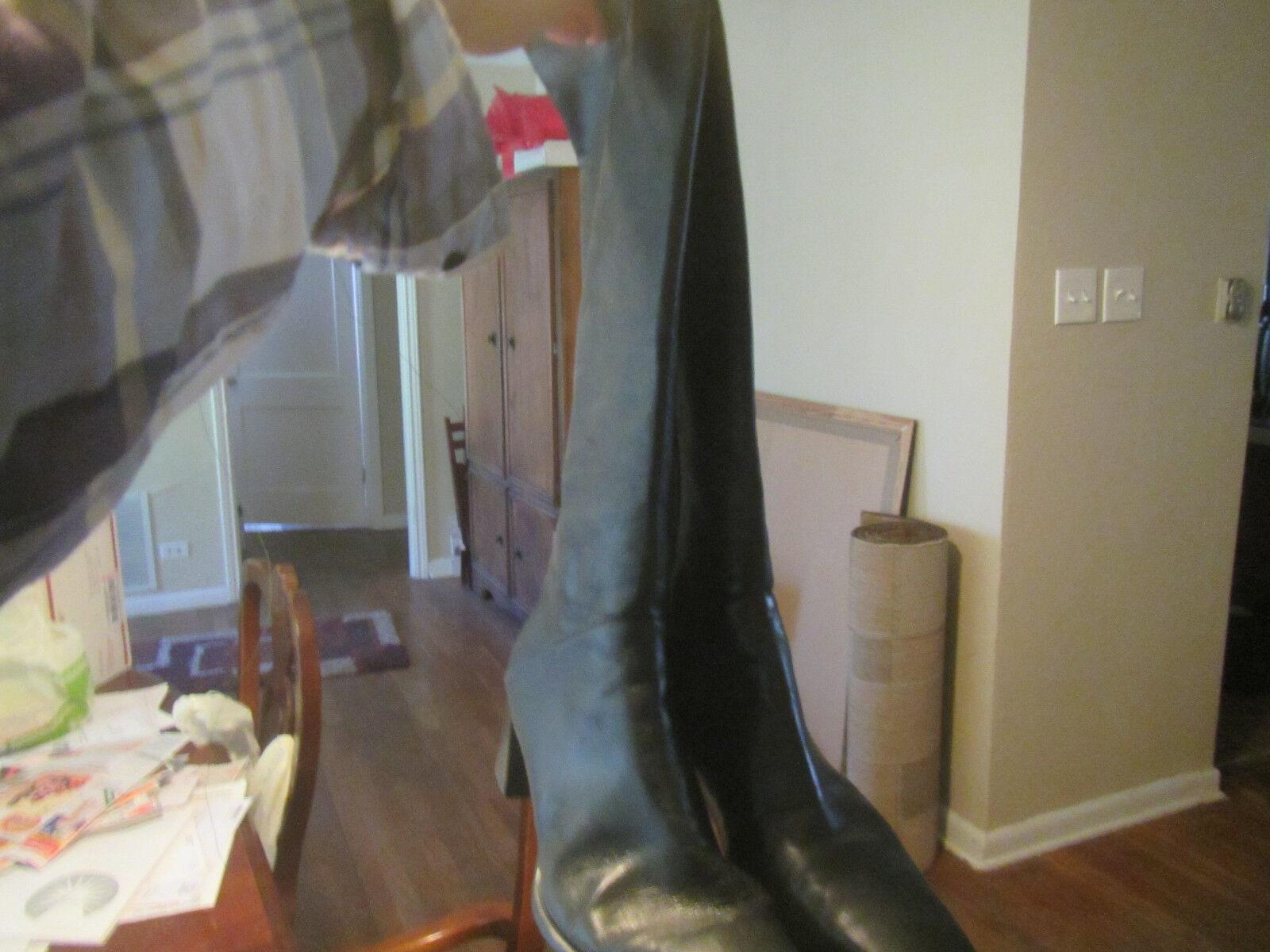 Stuart Weitzman Negro Knee High botas Puntera Talla 10 de altura media Puntera botas Cuadrada Cremallera b335c6