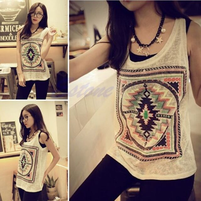 Fashion Womens Summer Sexy Vest Top Sleeveless Blouse Casual Tank Tops T-Shirt