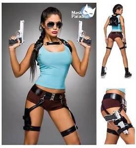 Kostüm Gamer Girl Set Action Lara Croft Tomb Raider Fasching