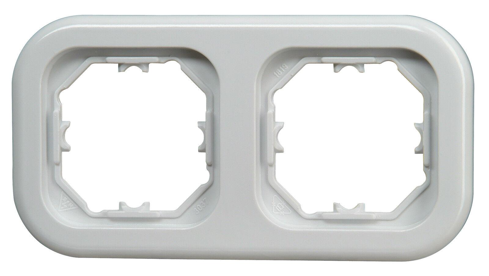 Kopp 2 Fach Abdeckrahmen Serie Donau arktis weiß 2-Fach Rahmen Elektro Neuware