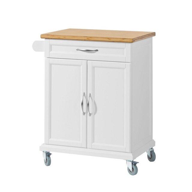SoBuy® Wood Kitchen Cabinet Cupboard,Moving Storage Trolley Cart,FKW13-WN, UK