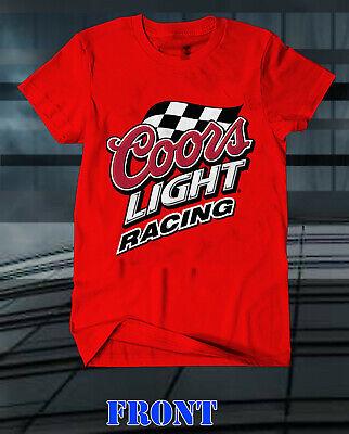 COORS LIGHT RACING T SHIRT Logo Men/'s T SHIRT SIZES S 3XL