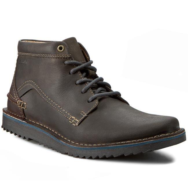 Clarks Herren Remsen Hi Grau Stilvolle Lea Stiefel Trendige & Stilvolle Grau UK 8,9, 10 G 777568