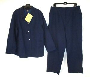 Dialogue Gg466 Nwt Set Front Blue Sz Jacket Plus Snap Pants 20w Textured Womens ZPwr7Z