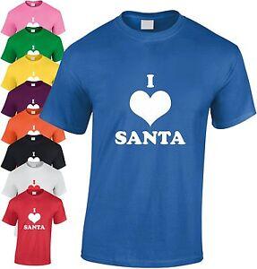 I-Love-Santa-Enfants-T-Shirt-pour-Cool-Secret-Coeur-Jeunesse-Cadeau