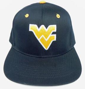 newest 005e1 1c687 Image is loading WEST-VIRGINIA-MOUNTAINEERS-NCAA-NAVY-VTG-SNAPBACK-RETRO-
