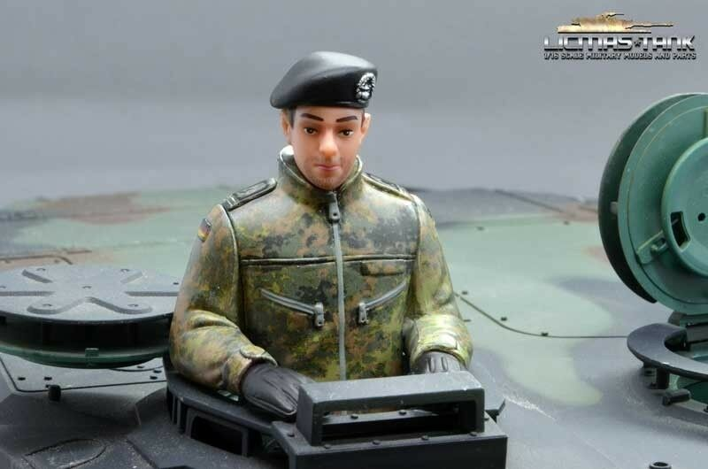 German Military Crew 1 16 Figurines Ready Painted for Heng Long Leopard