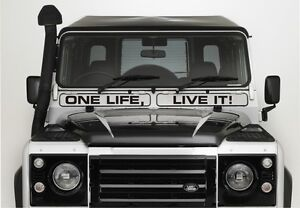 4X4 Stickers Land Rover Camel Trophy One Life Live It Defender Vent Autocollants