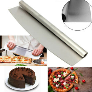 Stainless-Steel-Pizza-Cutter-12-inch-Blade-Rocker-Style-Professional-Slicer