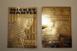 MICKEY-MANTLE-1996-23KT-Gold-Card-3-Time-MVP-New-York-Yankees-NM-MT-BOGO