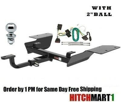 CURT Class 2 Trailer Hitch Bundle with Wiring for 2006-2012 Chevrolet Impala 12252 /& 56046