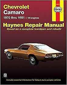 haynes chevrolet camaro 70 81 berlinetta owners service repair rh ebay co uk haynes repair manual camaro haynes repair manual camaro