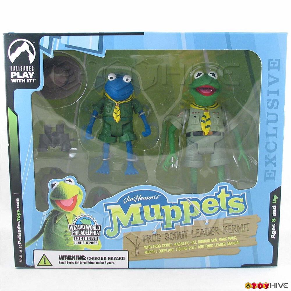 Muppets Palisades Wizard World Exclusive Frog Scout Leader Kermit - Blau version