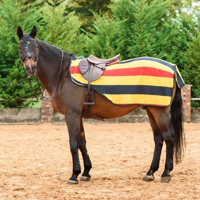 Everest Exercise Sheet Striped Fleece Equestrian Hack Outdoor Horse Riding Rug