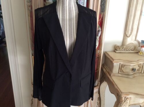 Sheer Insight Taglia Women With Sleeves Black 12 Jacket wCBqC4IF