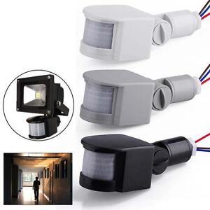 3-Couleur-12M-LED-securite-Motion-Sensor-PIR-Detecteur-infrarouge-murale-140-DC