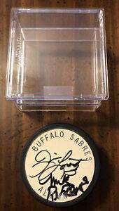 RARE Buffalo Sabres Autographed Alumni Hockey Puck Jim Lorentz & Mike Robitaille