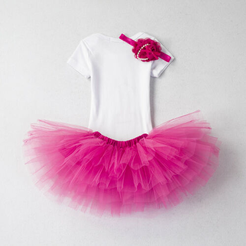 My Little Girl Baby 1st Birthday Dress Outfits Infant Party Clothing Sets 12 M