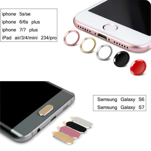 for iPhone 5S//6//6s//7 Plus//iPad Air//Samsung Galaxry S6//S7 Home Button Sticker Lot