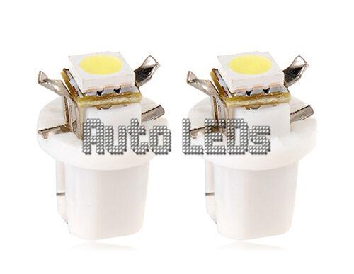 1 White SMD LED B8.5D Neo Wedge 12v Interior LED Bulb