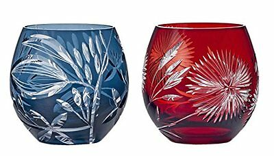 Edo Kiriko Glass Cup Tumbler Tk-111 Tofuku 320Cc Black Traditional w//Tracking#
