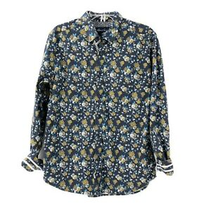 Robert-Grahman-Size-XL-Tailored-Fit-Long-Sleeve-Button-Down-Floral-Gift-For-Him
