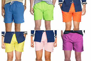 Polo-Ralph-Lauren-Mens-5-5-034-Solid-Hawaiin-Swim-Trunk-Pony-Logo-Surf-Board-Shorts