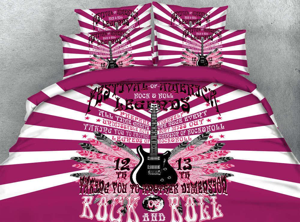 Music Guitar Notes 3D Printing Duvet Quilt Doona Covers Pillow Case Bedding Sets