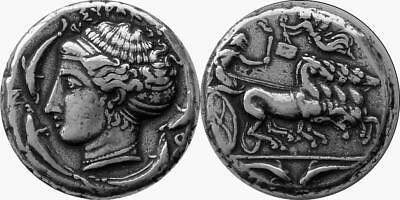 Greek Coin 5-G Arethusa /& Chariot Patron Nymph of Syracuse Greek Mythology