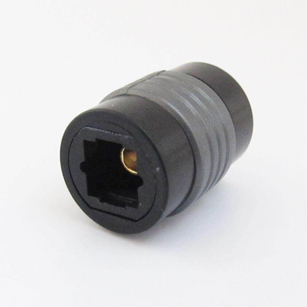 TosLink Optical Coupler Digital Audio Fiber Optic Female Extension Adapter