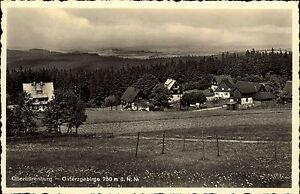 Oberbärenburg Osterzgebirge alte Ansichtskarte ~1940 Panorama Teilansicht Wiesen