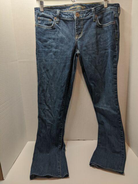 Women/'s American Eagle Size 8 Reg 77 Straight Stretch  Blue Jeans Regular