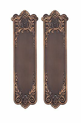 Rope door push finger plates solid cast brass reproductions