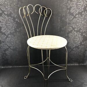 Brilliant Details About Vintage 1960S Regency Brass Parlor Boudoir Vanity Chair Stool Mid Century Andrewgaddart Wooden Chair Designs For Living Room Andrewgaddartcom