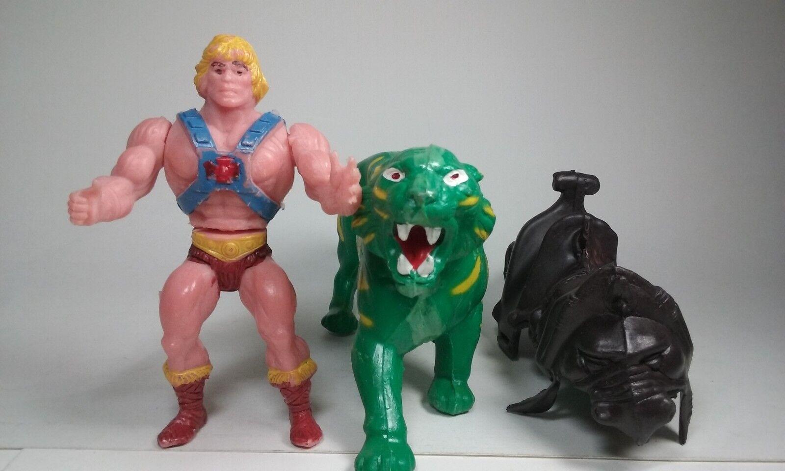 MOTU KO HE-MAN & BATTLE CAT  1980s MEXICAN StiefelLEG