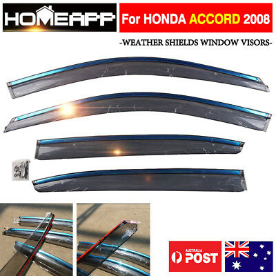 Weather Shields Visor FOR TOYOTA Hilux REVO 15-17 4 Doors 3M double sided tape