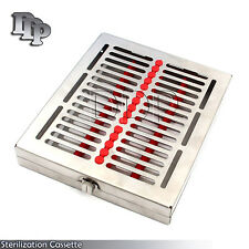 Dental 15 Instruments Sterilization Cassette Turn Lock St 003