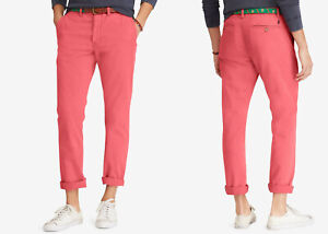 Men/'s POLO RALPH LAUREN White Chino Classic Fit pants selection MSRP $85