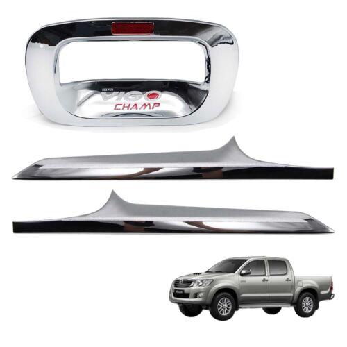 For Toyota Hilux Vigo Champ 2005 2006 13 Tail Gate Tailgate Handle Cover Chrome