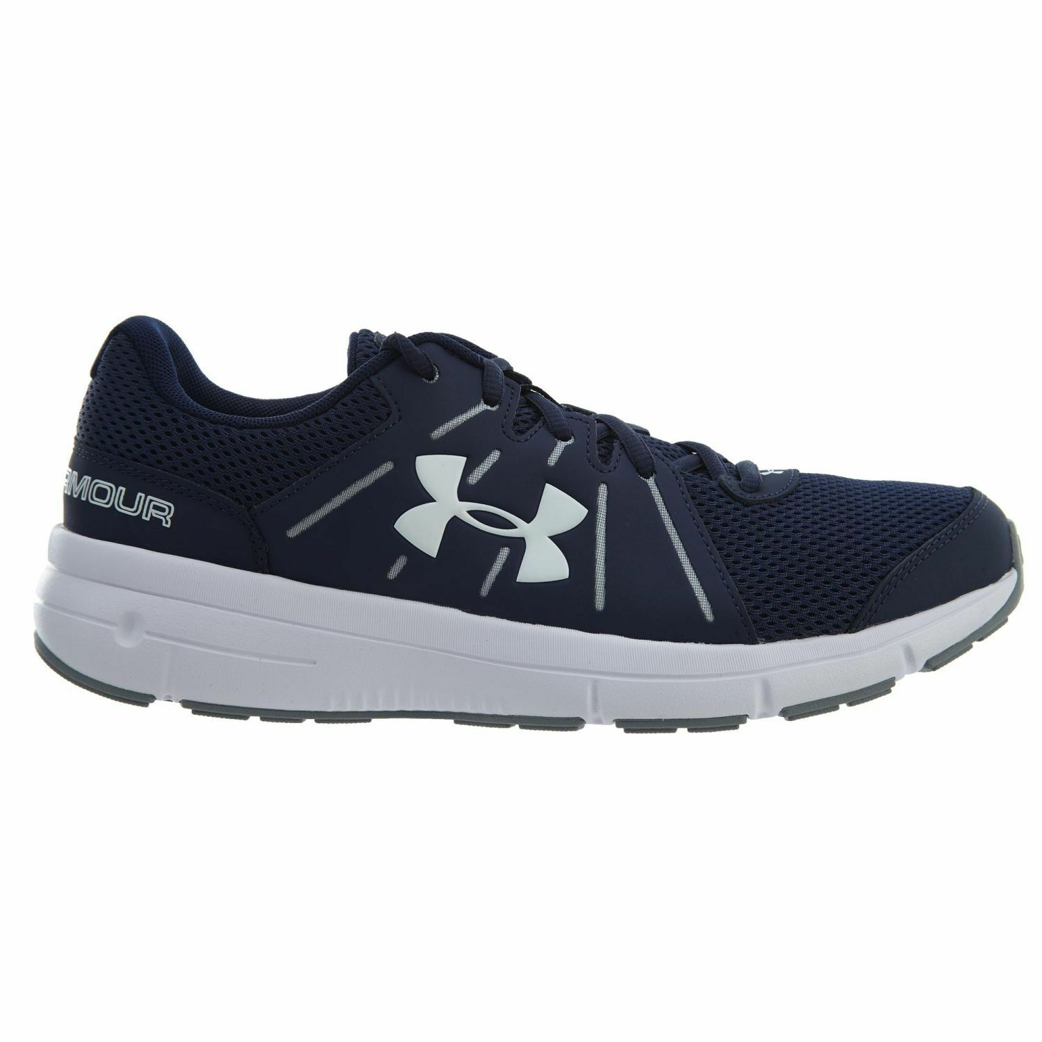 Under Armour Dash RN 2 Uomo 1285671-410 Navy Steel White Running Shoes Size 9.5