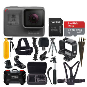 GoPro HERO5 Black Camera + 64GB Card + Case + Spike Mount + Tripod + ... f2ae3565cb3d