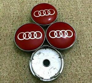 S-Line Rouge Audi Roue Alliage Centre Caps x4 60 mm 4B0601170 a 1 2 3 4 5 6 7 RS