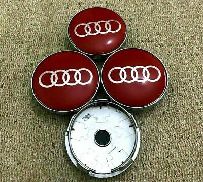 Audi Alloy Wheel Centre Caps x4 60mm Grey 4B0601170 A 1 2 3 4 5 6 7 8 Q RS TT