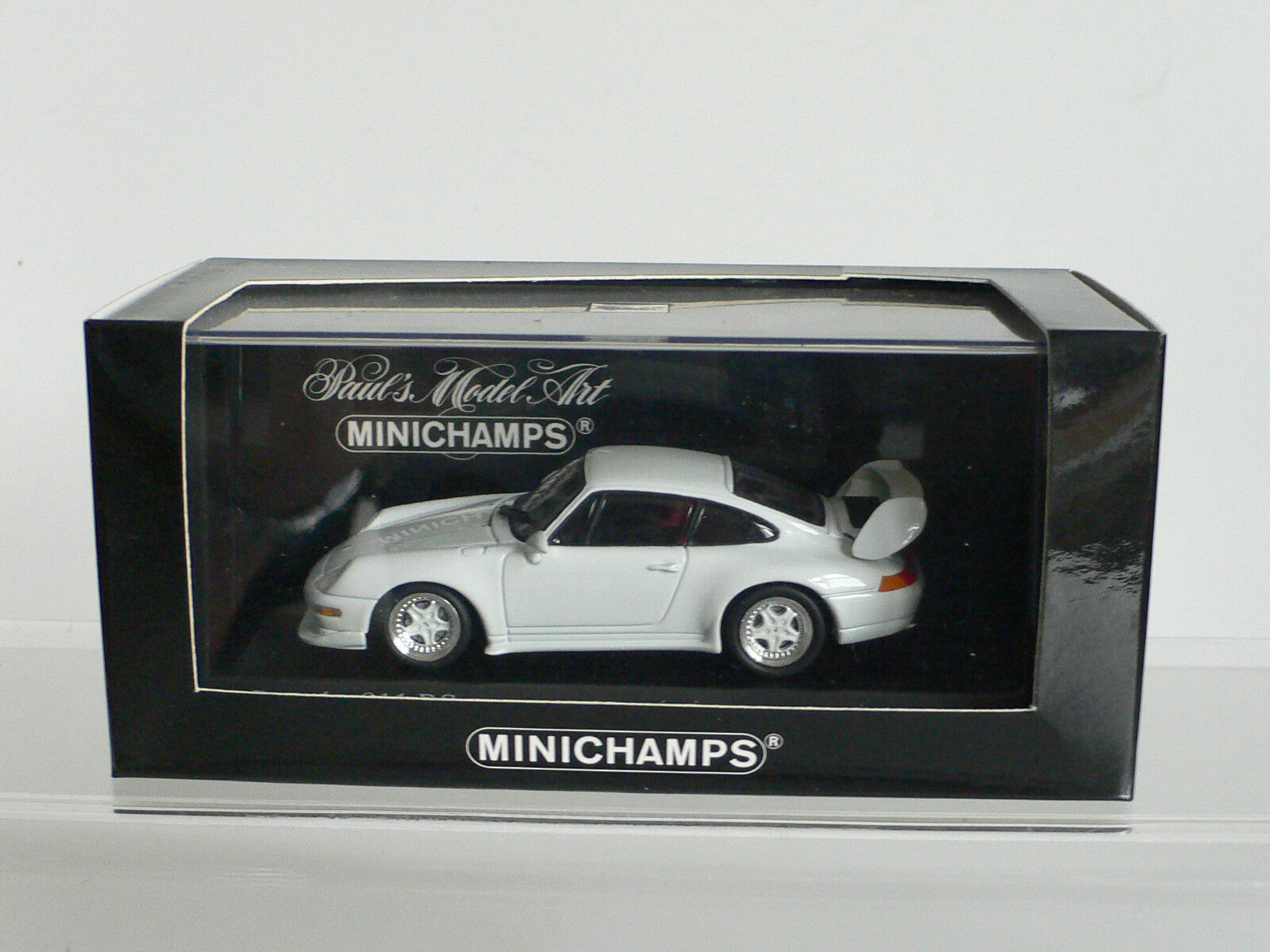 Minichamps 1 43 Porsche 911 RS Road Car 993 Grand Prix White 1995  V RARE