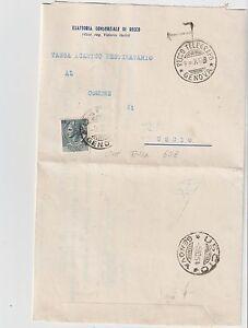 ITALY 1954 5L SIRACUSANA ISOLATED USED AS TAX ON TAXED COVER FROM GENOVA TO USCI - Italia - ITALY 1954 5L SIRACUSANA ISOLATED USED AS TAX ON TAXED COVER FROM GENOVA TO USCI - Italia