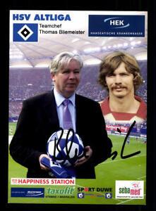 Thomas-Bliemeister-Autogrammkarte-Hamburger-SV-Altligakarte-Original-Signiert