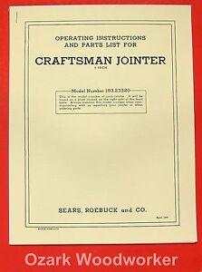 craftsman biscuit joiner manual