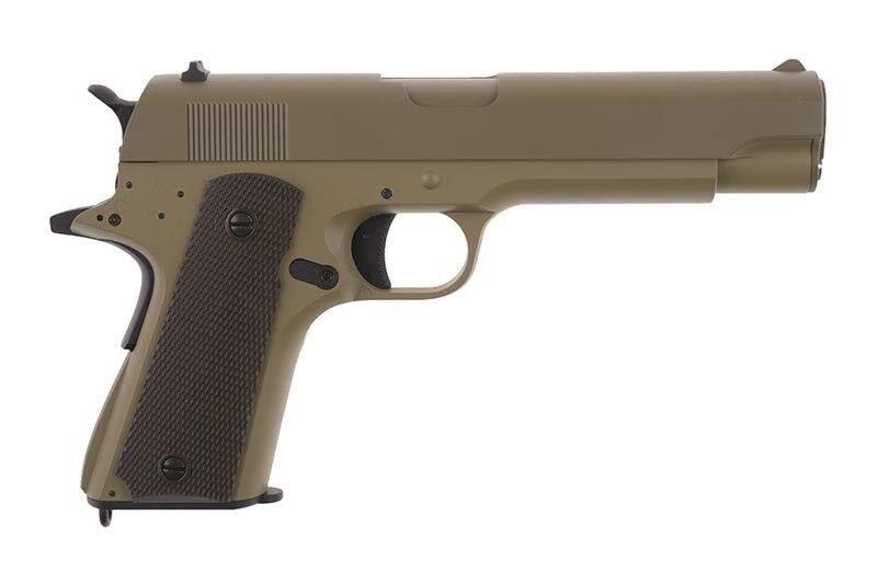 Softair Pistole AUTOMATIK Metall Metall Metall CM123 AEP 1911 TAN 0,5J 6mm Akku Speedloader a135f9
