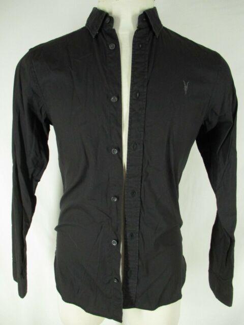 Allsaints Mens Black Long Sleeve Redondo Shirt S